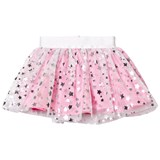 Holly Hastie Pink and Silver Star Print Tulle Skirt