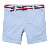 Tommy Hilfiger Light Blue Classic Belted Chino Shorts