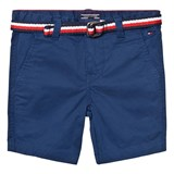 Tommy Hilfiger Blue Classic Belted Chino Shorts
