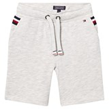 Tommy Hilfiger Grey Sweat Shorts with Flag Detail