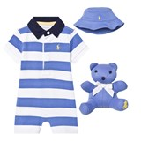 Ralph Lauren Blue and White Stripe Rugby 3 Piece Gift Box
