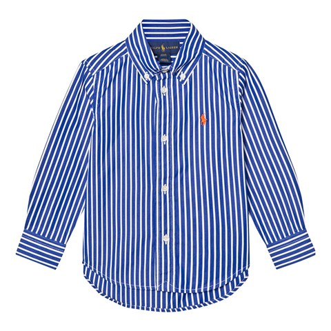 Blue and White Stripe Poplin Shirt