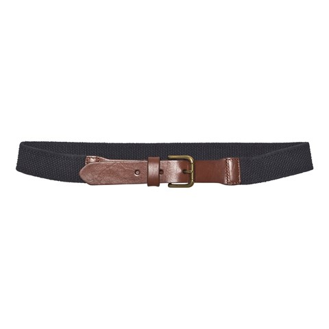 Brown and Navy Stretch Belt