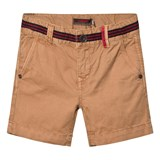 Catimini Tan Shorts with Stripe Waist Detail