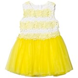 Fun & Fun Yellow and White Lace and Tulle Sleeveless Dress