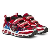 Geox Red Shuttle Masked Hero Light Up Velcro Trainers