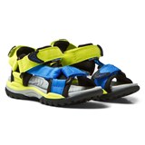 Geox Lime and Blue Velcro Water Friendly Borealis Sandals