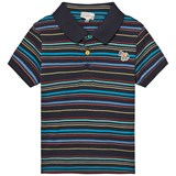 Paul Smith Junior Navy Stripe Branded Polo