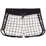 DKNY Black and White Check Branded Sweat Shorts