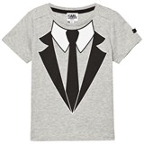 Karl Lagerfeld Kids Grey Shirt and Tie Trompe L'oeil Tee