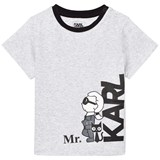Karl Lagerfeld Kids Grey Mr Karl Print Tee
