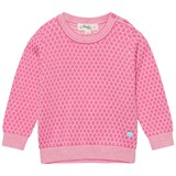 The Bonnie Mob Pink Honeycomb Jaquard Sweater