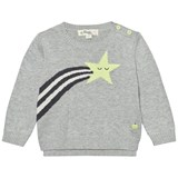 The Bonnie Mob Monochrome Shooting Star Rainbow Intarsia Sweater