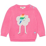 The Bonnie Mob Pink Flash Cloud Intarsia Sweater