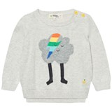 The Bonnie Mob Putty Flash Cloud Intarsia Sweater