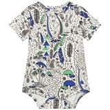 The Bonnie Mob Blue Wilderness Printed Short Sleeve Baby Bodysuit