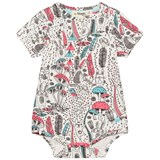 The Bonnie Mob Pink Printed Short Sleeve Baby Bodysuit Wilderness