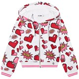 So Twee White Pop Art Diamante Hoody