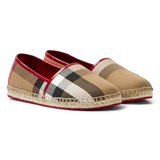 Burberry Red and Classic Check Espadrilles