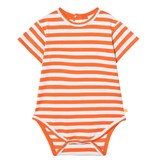 Tinycottons Red/Light Blue Small Stripes Ss Body