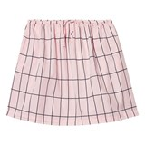 Tinycottons Pale Pink/Dark Navy Big Grid Wv Skirt