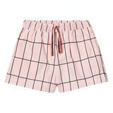 Tinycottons Pale Pink/Dark Navy Big Grid Wv Short