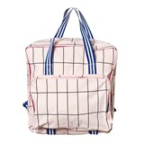 Tinycottons Pale Pink/Dark Navy Grid Backpack