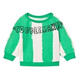 Noe & Zoe Berlin Green Stripe Troublemaker Sweatshirt