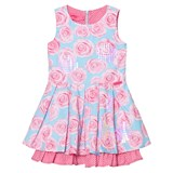 Lelli Kelly Pink and Aqua Rose Print Dress