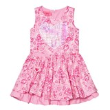 Lelli Kelly Pink Floral Print Dress with Sequin Heart