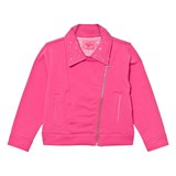 Lelli Kelly Pink Sweat Biker Jacket with Diamante Detail