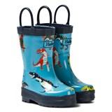 Hatley Blue Dinosaur Print Wellies