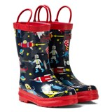Hatley Navy Space Aliens Print Wellies