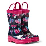 Hatley Navy Butterflies Print Wellies