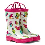 Hatley Cream Tropical Birds Print Wellies
