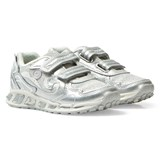 Geox Silver Shuttle Light Up Velcro Trainers