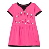 Sonia Rykiel Pink Cat Print Branded Jersey Dress
