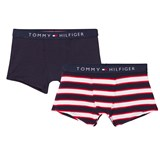 Tommy Hilfiger Pack of 2 Navy and Stripe Trunks