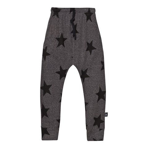 NUNUNU Charcoal Star Baggy Pants