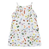 Anne Kurris Blue All Over Emoji Print Voile Dress