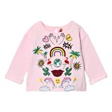 Anne Kurris Pink Sequin Jungle and Embroidereed Sweatshirt