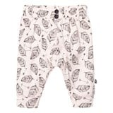 Minymo Light Pink Leaf Print Soft Pants