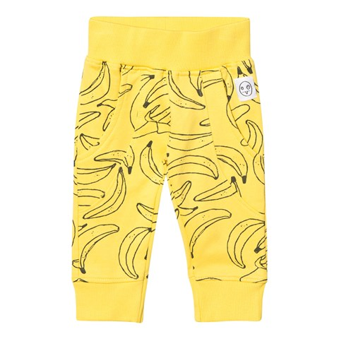 Indikidual Yellow Banana Print Sweat Pants