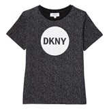 DKNY Black Speckled Logo Tee
