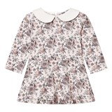 The Little Tailor Floral Jersey Dress with Collar