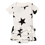 NUNUNU White Star Onesie Skirt