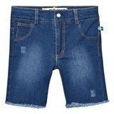 The BRAND Stonewashed Blue Denim Raw Shorts