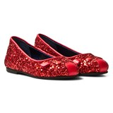 Little Marc Jacobs Red Glitter Mouse Pumps