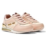 Michael Kors Pink Zia Allie Wrap Infants Elasticated Lace Trainers