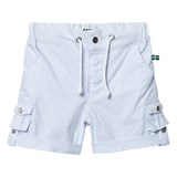 The BRAND Thin Blue Stripe Classic Khaki Shorts